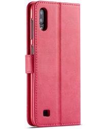 Samsung Galaxy A10 Stijlvol Vintage Portemonnee Bookcase Hoesje Roze