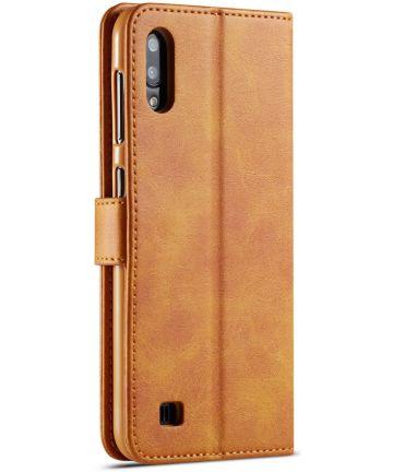 Samsung Galaxy A10 Stijlvol Vintage Portemonnee Bookcase Hoesje Bruin Hoesjes