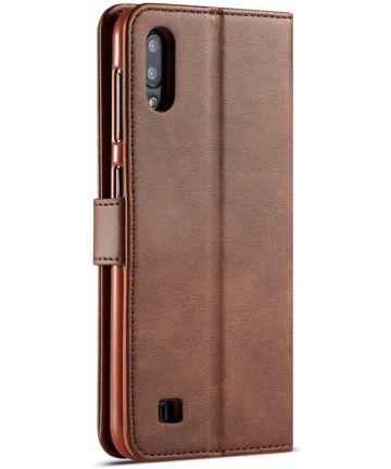 Samsung Galaxy A10 Stijlvol Vintage Portemonnee Hoesje Donkerbruin Hoesjes