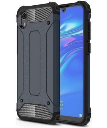 Huawei Y5 (2019) Hybride Hoesje Donker Blauw Hoesjes