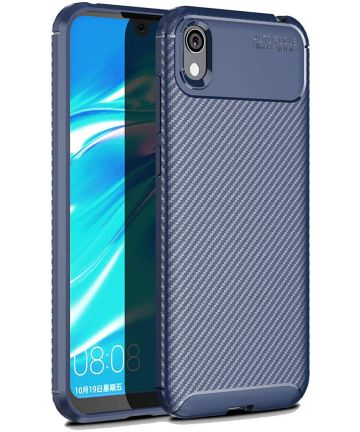 Huawei Y5 (2019) Siliconen Carbon Hoesje Blauw