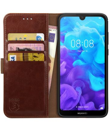 Rosso Element Huawei Y5 (2019) Hoesje Book Cover Bruin