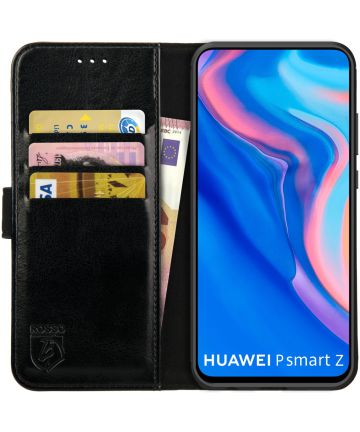 Rosso Element Huawei P Smart Z / Honor 9X Hoesje Book Cover Zwart Hoesjes