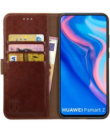 Rosso Element Huawei P Smart Z / Honor 9X Hoesje Book Cover Bruin Hoesjes