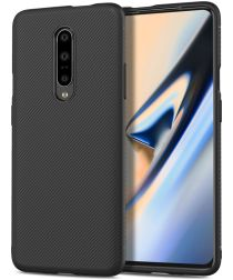 OnePlus 7 Pro Twill Slim Texture Back Cover Zwart