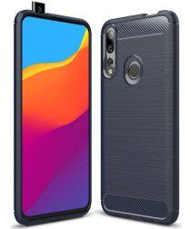 Huawei P Smart Z Geborsteld TPU Hoesje Blauw