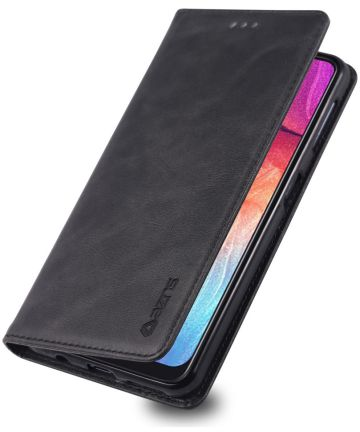 AZNS Samsung Galaxy A70 Portemonnee Stand Hoesje Zwart Hoesjes