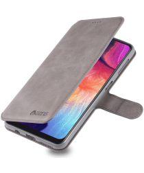 AZNS Samsung Galaxy A70 Wallet Stand Hoesje Grijs
