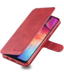 AZNS Samsung Galaxy A70 Wallet Stand Hoesje Rood