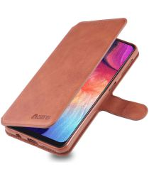 AZNS Samsung Galaxy A70 Wallet Stand Hoesje Bruin