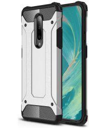OnePlus 7 Pro Hybride Hoesje Zilver