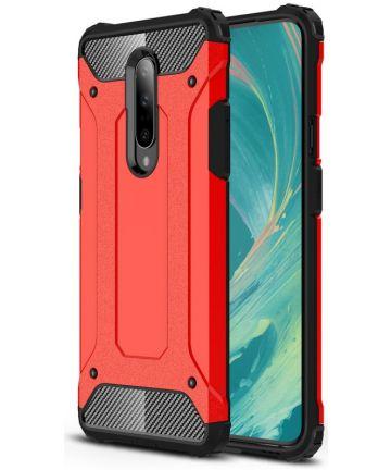 OnePlus 7 Pro Hybride Hoesje Rood Hoesjes