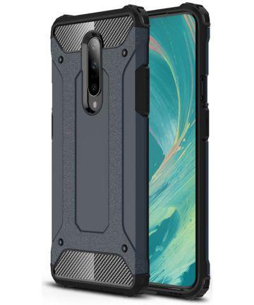 OnePlus 7 Pro Hybride Hoesje Donker Blauw Hoesjes