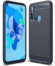 Huawei P20 Lite (2019) Geborsteld TPU Hoesje Blauw