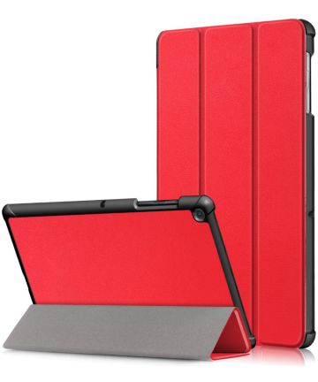 Samsung Galaxy Tab S5e Hoes Tri-Fold Rood Hoesjes