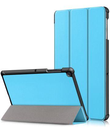 Samsung Galaxy Tab S5e Hoes Tri-Fold Blauw Hoesjes
