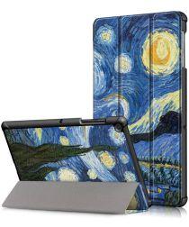 Samsung Galaxy Tab S5e Hoes Tri-Fold met Starry Night Print