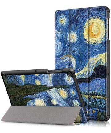 Samsung Galaxy Tab S5e Hoes Tri-Fold met Starry Night Print Hoesjes