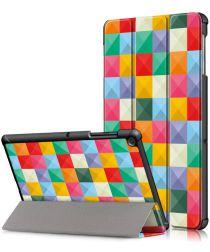Samsung Galaxy Tab S5e Tri-Fold Hoes met Triangles Print
