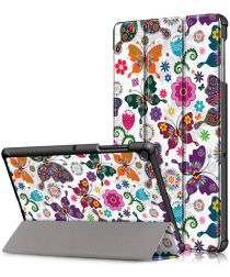 Samsung Galaxy Tab S5e Tri-Fold Hoes met Butterfly Print