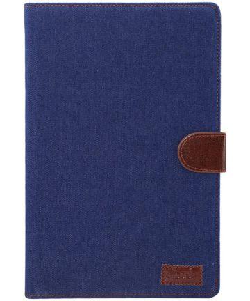 Samsung Galaxy Tab S5e Jeans Portemonnee Hoes Donker Blauw Hoesjes