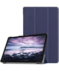 Samsung Galaxy Tab A 10.5 (2018) Tri-Fold Hoes Donker Blauw