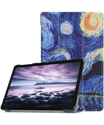 Samsung Galaxy Tab A 10.5 (2018) Tri-Fold Hoes Oil Painting Hoesjes