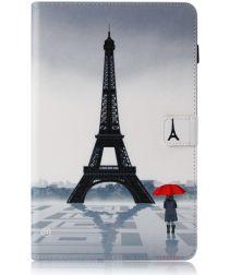 Samsung Galaxy Tab A 10.5 (2018) Portemonnee Print Hoes Eiffeltoren