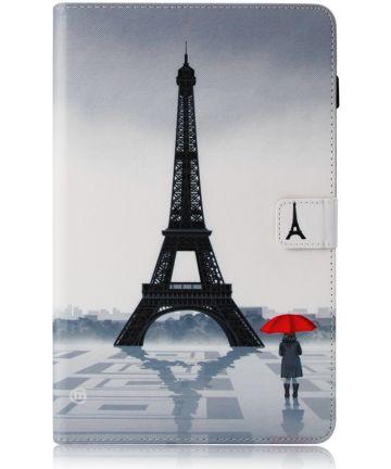 Samsung Galaxy Tab A 10.5 (2018) Portemonnee Print Hoes Eiffeltoren Hoesjes
