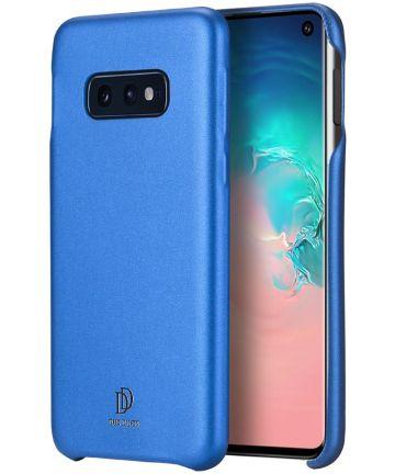 Dux Ducis Skin Lite Kunstleren Coating Hoesje Galaxy S10E Blauw Hoesjes