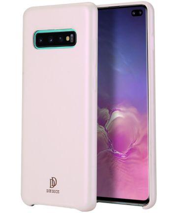 Dux Ducis Skin Lite Kunstleren Samsung Galaxy S10 Plus Hoesje Roze Hoesjes