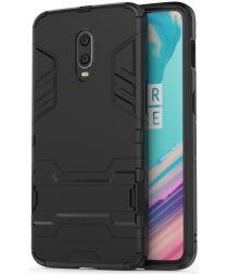 OnePlus 7 Hybride Stand Hoesje Zwart