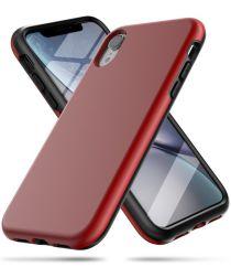 Apple iPhone XR Spatbestendig Hybride Hoesje Rood