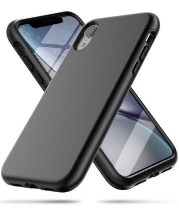 Apple iPhone XR Spatbestendig Hybride Hoesje Zwart Hoesjes