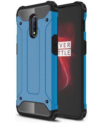 OnePlus 7 Hybride Hoesje Blauw Hoesjes