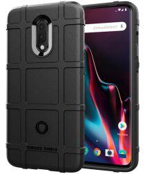 OnePlus 7 Rugged Armor Hoesje Zwart