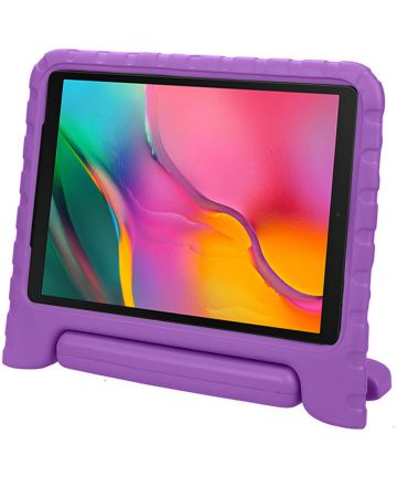 Samsung Galaxy Tab A 10.1 (2019) Kinder Tablethoes met Handvat Paars Hoesjes