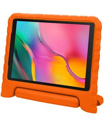 Samsung Galaxy Tab A 10.1 (2019) Kinder Tablethoes met Handvat Oranje Hoesjes