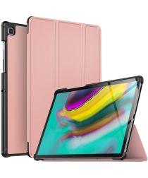 Samsung Galaxy Tab S5e Tri-Fold Hoesje Roze Goud