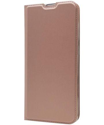 Samsung Galaxy A70 Stijlvol Portemonnee Hoesje Roze Goud Hoesjes