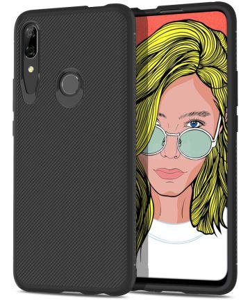 Huawei P Smart Z Twill Slim Texture Back Cover Zwart Hoesjes
