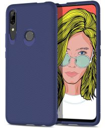 Huawei P Smart Z Twill Slim Texture Back Cover Blauw