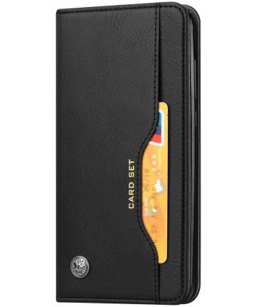 OnePlus 7 Pro Stijlvol Luxe Portemonnee Hoesje Zwart Hoesjes