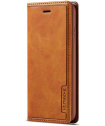 Apple iPhone 8 Retro Portemonnee Bookcase Hoesje Bruin