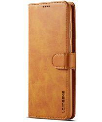 Samsung Galaxy A50 Book Case Hoesje Stijlvol Wallet Kunst Leer Khaki