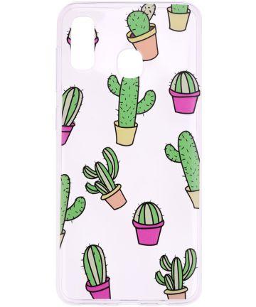 Samsung Galaxy A40 TPU Hoesje met Cactus Print Hoesjes