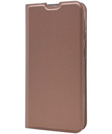Samsung Galaxy A20e Portemonnee Hoesje Roze Goud Hoesjes