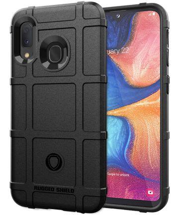 Samsung Galaxy A20e Rugged Armor Hoesje Zwart Hoesjes