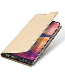 Dux Ducis Samsung Galaxy A20e Bookcase Hoesje Goud
