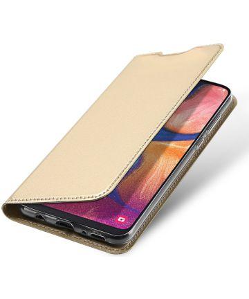 Dux Ducis Samsung Galaxy A20e Bookcase Hoesje Goud Hoesjes
